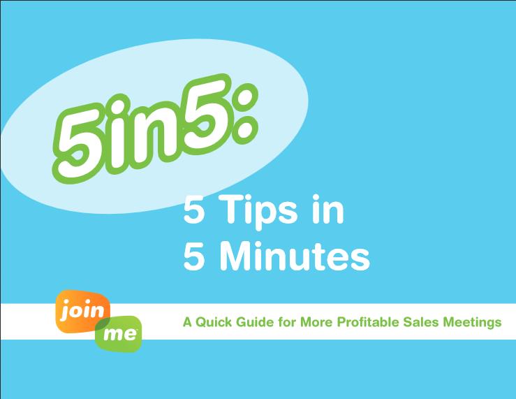 5 en 5 – 5 conseils en 5 minutes