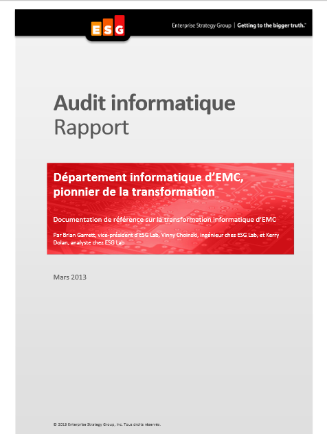 Département informatique d'EMC, pionnier de la transformation