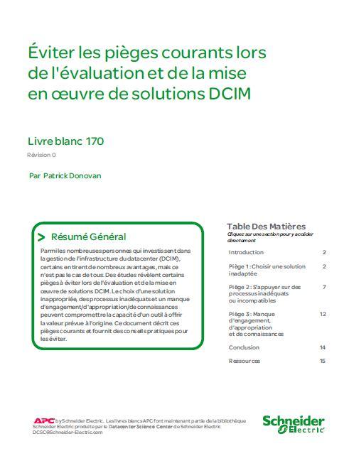Éviter les pièges courants lors de l'évaluation et de la mise en oeuvre de solutions DCIM