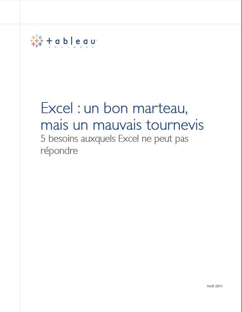 Excel, un bon marteau, mais un mauvais tournevis: 5 besoins auxquels Excel ne peut pas répondre