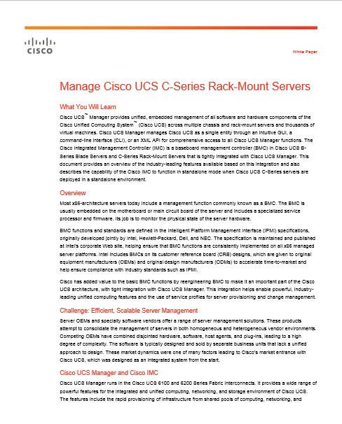 Gérer les serveurs Cisco UCS C-Series Rack-Mount