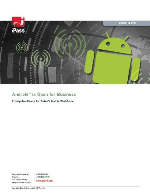 Open mobile Androïd (Anglais)