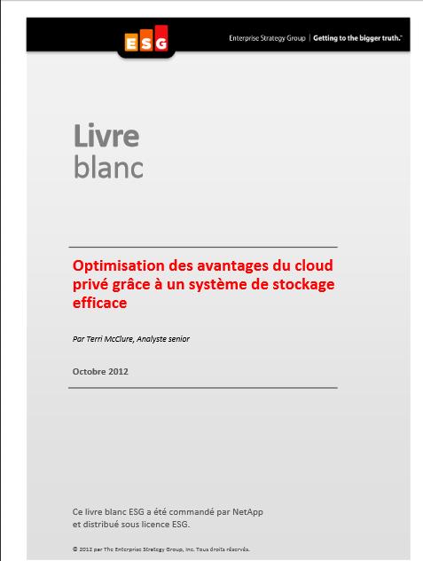 Optimisation des avantages du cloud privé grâce à un système de stockage efficace