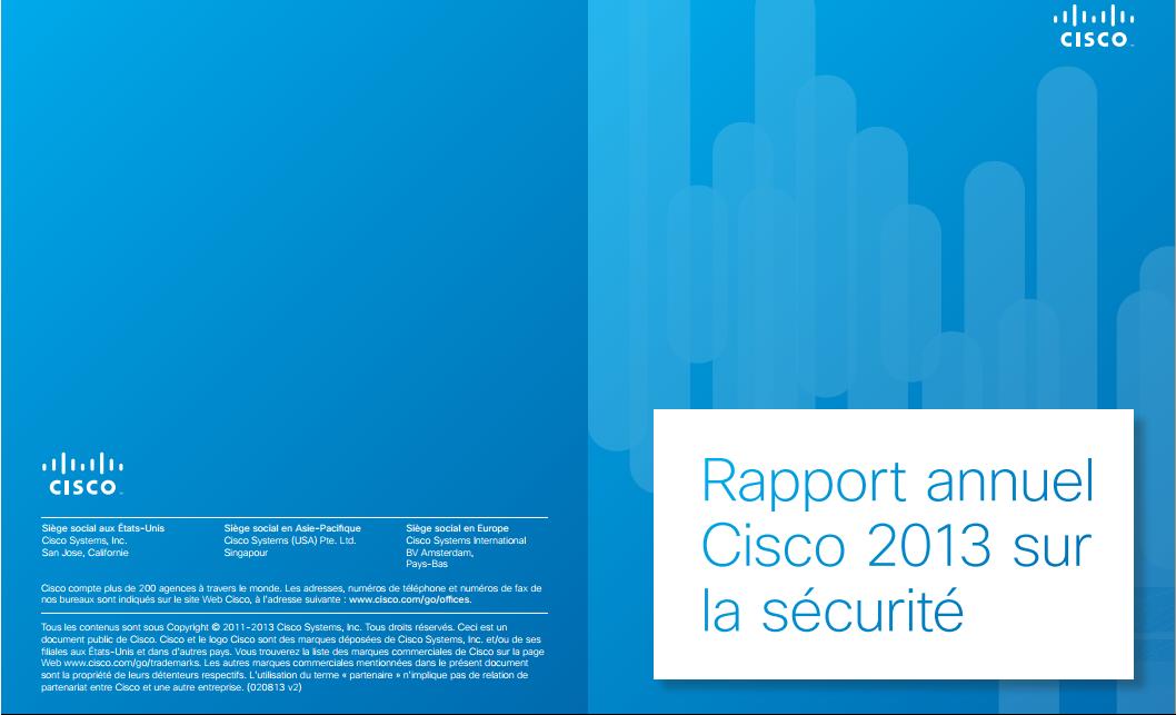 Rapport annuel Cisco 2013 sur la sécurité
