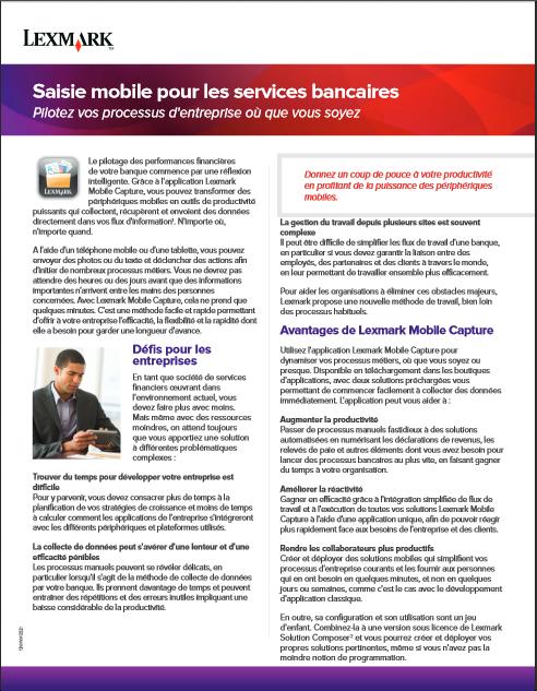 Saisie mobile pour les services bancaires: pilotez vos processus d'entreprise où que vous soyez
