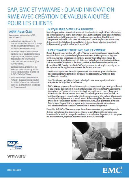 SAP, EMC et VMware: quand innovation rime avec création de valeur ajoutée pour les clients