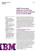 SNCF Proximités optimise son pilotage financier grâce à Cognos et aux services IBM