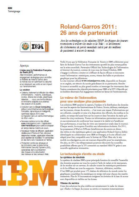 Roland-Garros 2011 :  26 ans de partenariat