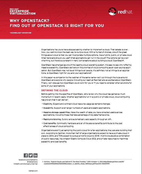 Pourquoi choisir OpenStack ? Venez découvrir si OpenStack est fait pour vous