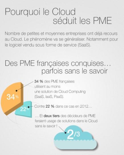 Infographie : Pourquoi le Cloud séduit les PME