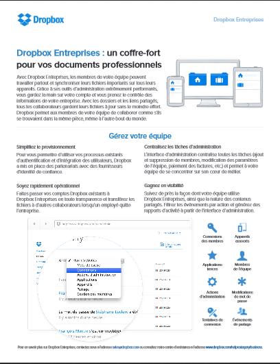 Dropbox Entreprises : un coffre-fort pour vos documents professionnels