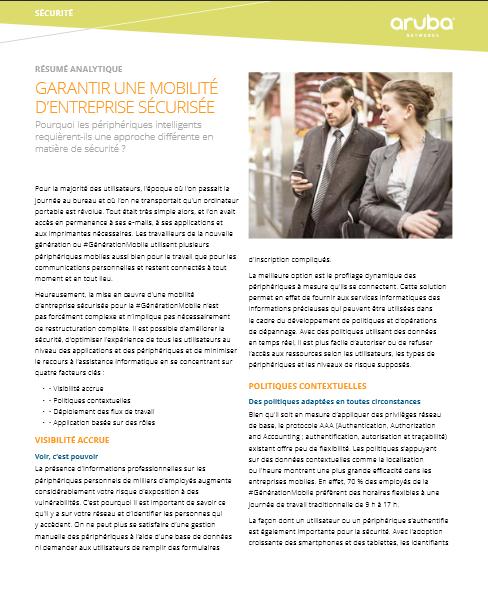 Garantir une mobilité d'entreprise sécurisée