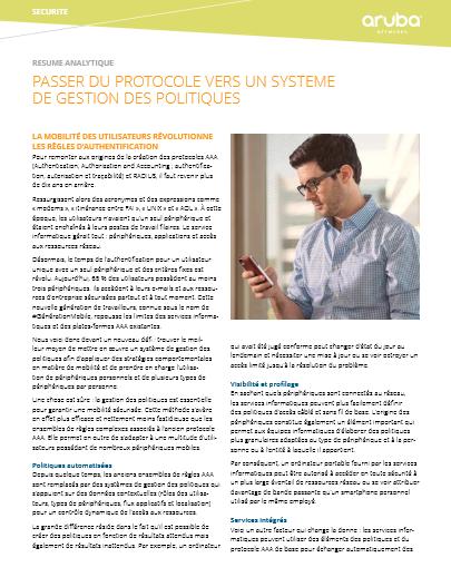 Passer du protocole vers un système de gestion des politiques