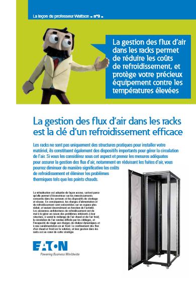 La gestion des flux d'air dans les racks est la clé d'un refroidissement efficace