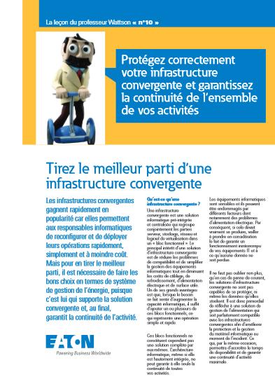 Tirez le meilleur parti d'une infrastructure convergente