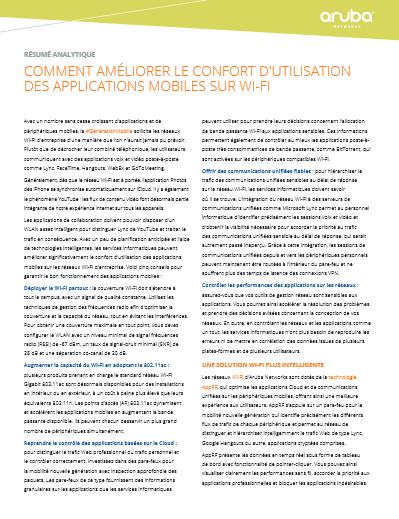 Comment améliorer le confort d'utilisation des applications mobiles sur wi-fi