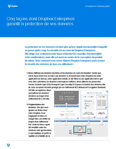 Cinq façons dont Dropbox Entreprises garantit la protection de vos données