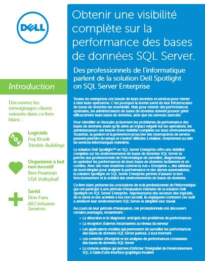 Obtenir une visibilité complète sur la performance des bases de données SQL Server