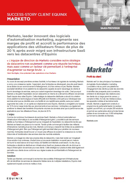 Success Story client Equinix : Marketo