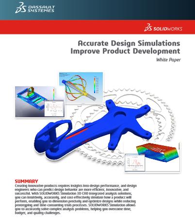 Le logiciel de simulation de Solid Works améliore le développement de produit