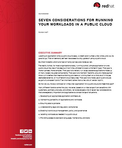 Sept considérations à prendre en compte avant d'intégrer votre charge de travail dans le Cloud public
