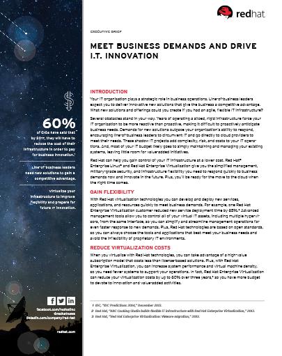 Répondez aux besoins de votre entreprise et conduisez l'innovation informatique