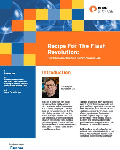 La recette pour adopter la révolution flash