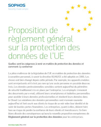 Proposition de règlement général sur la protection des données de l'UE