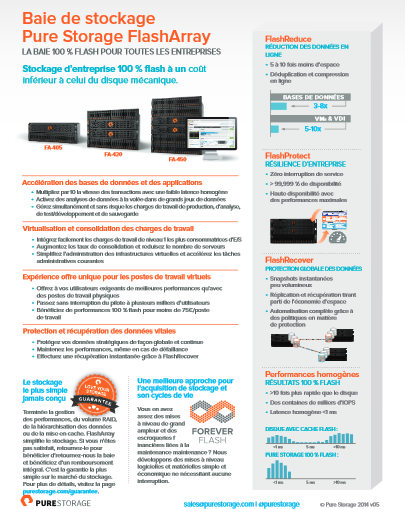 Baie de stockage Pure Storage FlashArray