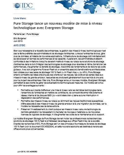 Pure Storage lance un nouveau modèle de mise à niveau technologique avec Evergreen Storage