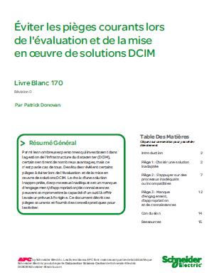 Éviter les pièges courants lors de l'évaluation et de la mise en œuvre de solutions DCIM