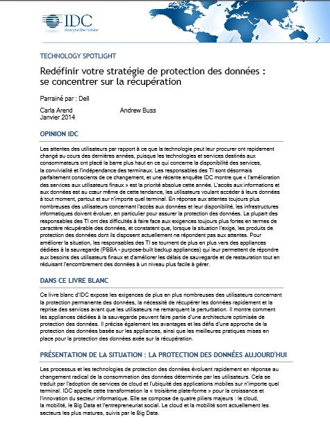 Redéfinir votre stratégie de protection des données : se concentrer sur la récupération