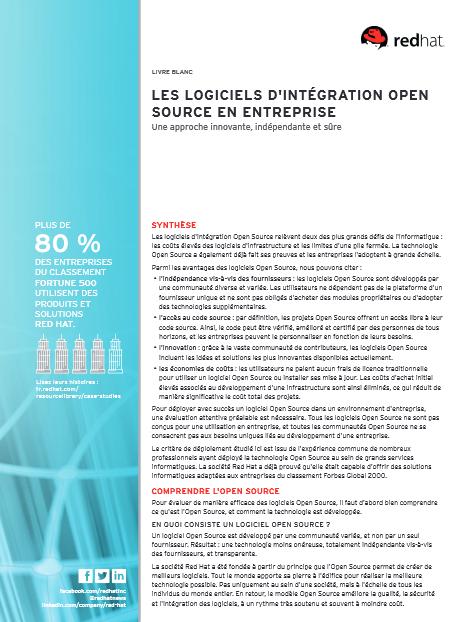 Les logiciels d'intégration Open Source en entreprise: une approche innovante, indépendante et sûre