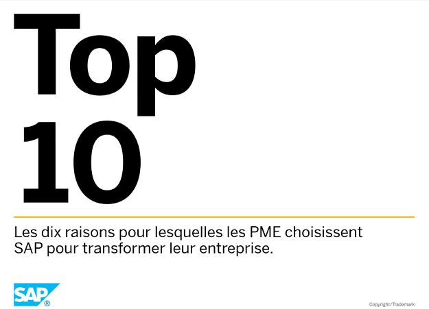 10 raisons pour choisir SAP pour une PME