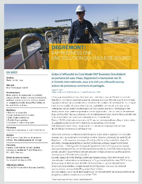 Cas client Degrémont (filiale de Suez Environnement)