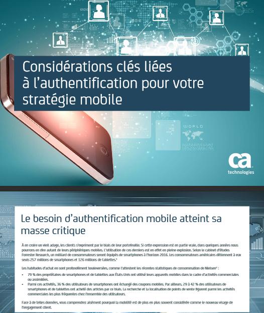 Considérations clés liées à l'authentification pour votre stratégie mobile