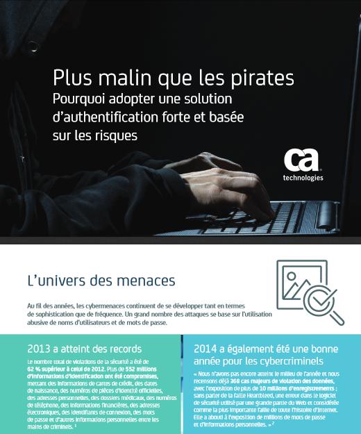 Plus malin que les pirates : pourquoi adopter une solution d'authentification forte et basée sur les risques