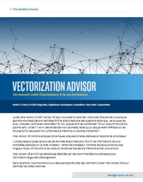 Vectorisation Advisor : un nouvel outil d'assistance à la vectorisation