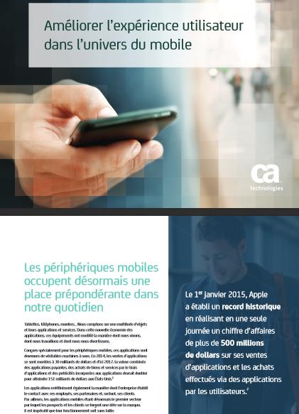 Améliorer l'expérience utilisateur dans l'univers du mobile