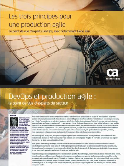 Les trois principes pour une production agile