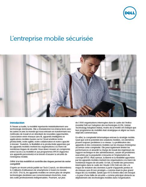 L'entreprise mobile sécurisée