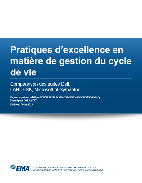 Pratiques d'excellence en matière de gestion du cycle de vie