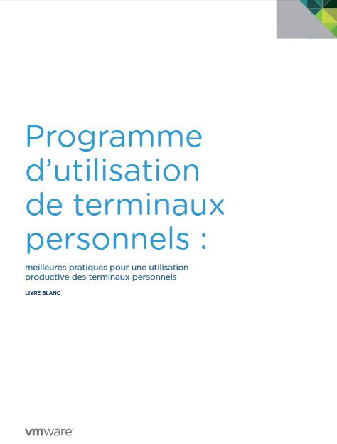 Programme d'utilisation de terminaux personnels : meilleures pratiques pour une utilisation productive des terminaux personnels