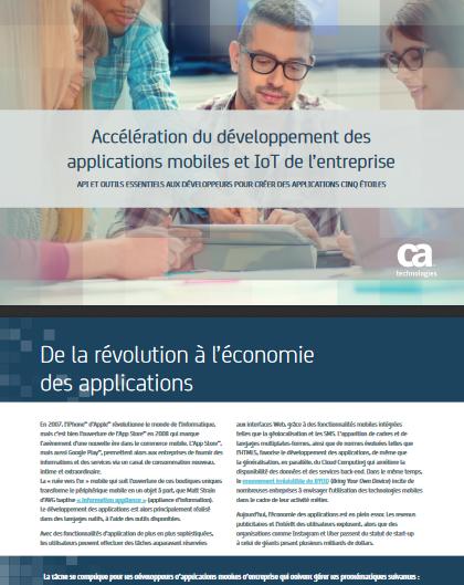Accélération du développement des applications mobiles et IoT de l'entreprise
