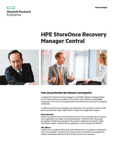 Caractéristiques et avantages clés : HPE 3PAR StoreServ et les systèmes HPE StoreOnce