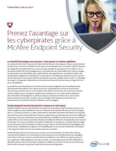 Prenez l'avantage sur les cyberpirates grâce à McAfee Endpoint Security