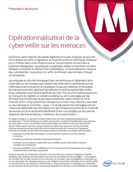 Opérationnalisation de la cyberveille sur les menaces