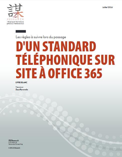 Les règles à suivre lors du passage d'un standard téléphonique sur site à Office 365