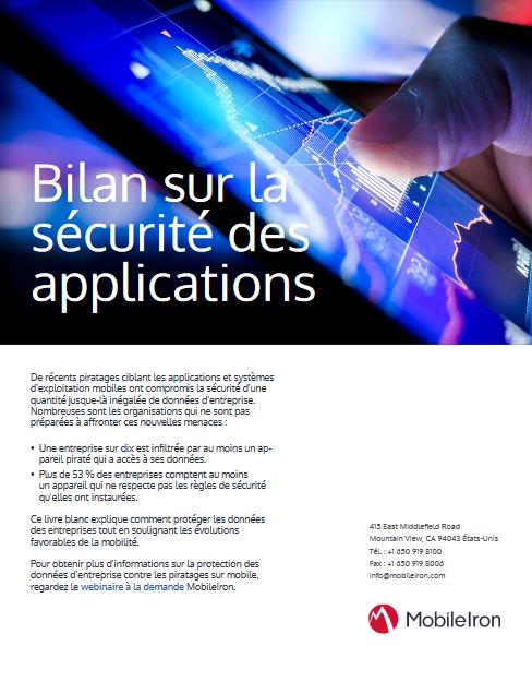 Bilan sur la sécurité des applications