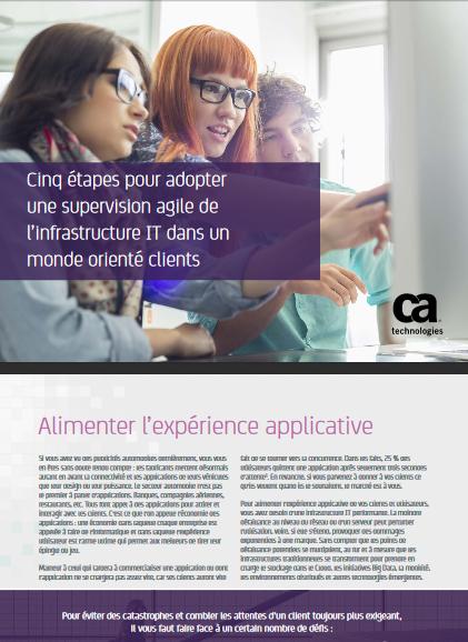 Cinq étapes pour adopter une supervision agile de l'infrastructure IT dans un monde orienté clients